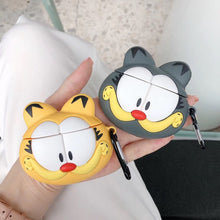 Load image into Gallery viewer, Garfield Style Cat Face Silicone Protective Shockproof Case For Apple Airpods 1 & 2 - Casememe.com