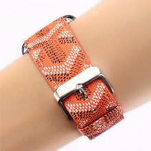 Load image into Gallery viewer, MORE COLORS Goyard Style Leather Compatible With Apple Watch 38mm 40mm 42mm 44mm Band Strap For iWatch Series 4/3/2/1 - Casememe.com