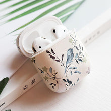 Load image into Gallery viewer, Chic Floral Simple White Hard Silicone Protective Shockproof Case For Apple Airpods 1 & 2 - Casememe.com