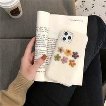 Load image into Gallery viewer, Felt Floral Furry Shockproof Protective Designer iPhone Case For iPhone 11 Pro Max X XS Max XR 7 8 Plus - Casememe.com