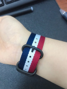 NATO Stripe Nylon Compatible With Apple Watch 38mm 40mm 42mm 44mm Band Strap For iWatch Series 4/3/2/1 - Casememe.com