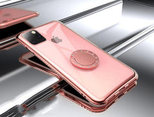 Load image into Gallery viewer, Jewel Ring Holder Bumper Frame Designer iPhone Case For iPhone SE 11 Pro Max X XS XS Max XR 7 8 Plus - Casememe.com