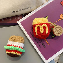 Load image into Gallery viewer, Knit Hamburger Protective Case For Apple Airpods 1 & 2 - Casememe.com