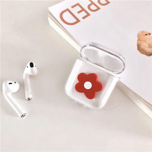 Cute Flower Floral Hard Clear Protective Shockproof Case For Apple Airpods 1 & 2 - Casememe.com