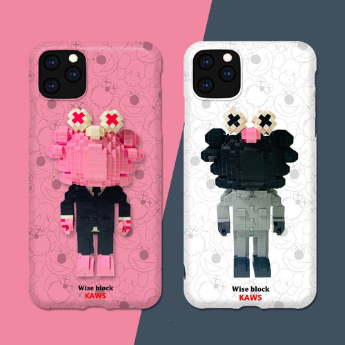 Lego KAWS Toy Silicone Shockproof Protective Designer iPhone Case For iPhone SE 11 Pro Max X XS Max XR 7 8 Plus - Casememe