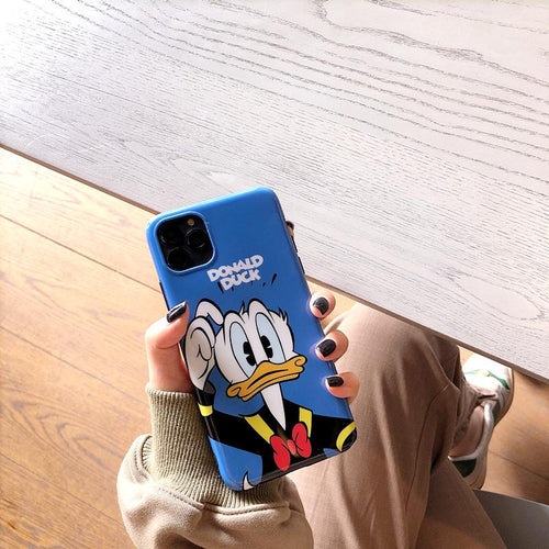 Donald Duck Style Glossy Silicone Shockproof Protective Designer iPhone Case For iPhone SE 11 Pro Max X XS Max XR 7 8 Plus - Casememe