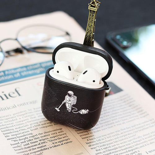 Astronaut Janitor Space Leather Protective Shockproof Case For Apple Airpods 1 & 2 - Casememe.com