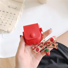 Load image into Gallery viewer, Cute Strawberry Leather Pocket Protective Case For Apple Airpods 1 & 2 - Casememe.com