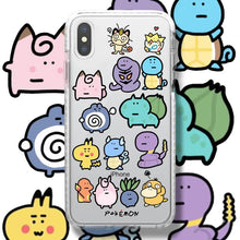 Load image into Gallery viewer, Pokemon Style Clear Silicone Shockproof Protective Designer iPhone Case For iPhone SE 11 Pro Max X XS Max XR 7 8 Plus - Casememe.com