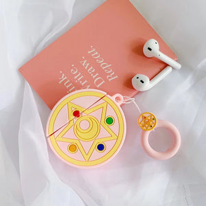 Sailor Moon Style Round Silicone Protective Shockproof Case For Apple Airpods 1 & 2 - Casememe.com
