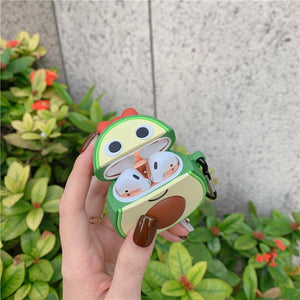 Cute Pineapple Silicone Protective Case For Apple Airpods 1 & 2 - Casememe.com