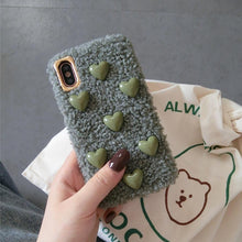 Load image into Gallery viewer, Minimalism Heart Furry Shockproof Protective Designer iPhone Case For iPhone SE 11 Pro Max X XS Max XR 7 8 Plus - Casememe.com