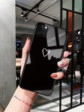 Load image into Gallery viewer, Minimalism Heart Tempered Glass Shockproof Protective Designer iPhone Case For iPhone SE 11 Pro Max X XS Max XR 7 8 Plus - Casememe.com