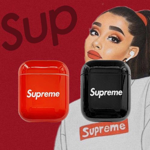 Supreme Style Classic Logo Protective Shockproof Case For Apple Airpods 1 & 2 - Casememe.com