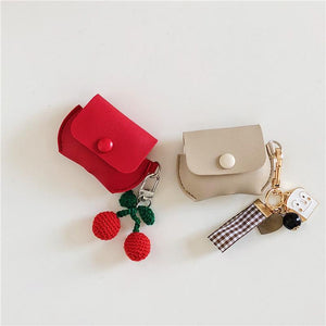 Leather Pouch Toast Keychain Protective Case For Apple Airpods Pro - Casememe.com