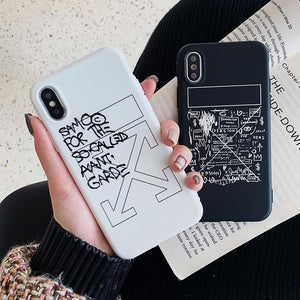 Off White OW Style Meme Matte Silicone Designer iPhone Case For For iPhone SE 11 Pro Max X XS Max XR 7 8 Plus - Casememe.com