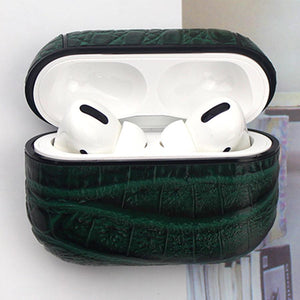 Crocodile Leather Protective Case For Apple Airpods Pro - Casememe.com