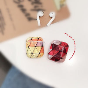 Geometric Hard Shell Protective Shockproof Case For Apple Airpods 1 & 2 - Casememe.com
