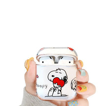 Load image into Gallery viewer, Snoopy Style Clear Hard Protective Case For Apple Airpods 1 & 2 - Casememe.com