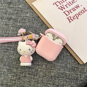 Melody Hello Kitty Silicone Protective Shockproof Case For Apple Airpods 1 & 2 - Casememe.com