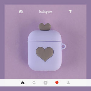 Cute Heart Silicone Protective Shockproof Case For Apple Airpods 1 & 2 - Casememe.com