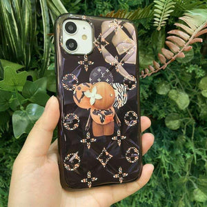 Takashi Murakami x Louis Vuitton Style Glossy Protective Designer iPhone Case For iPhone SE 11 Pro Max X XS Max XR 7 8 Plus - Casememe.com