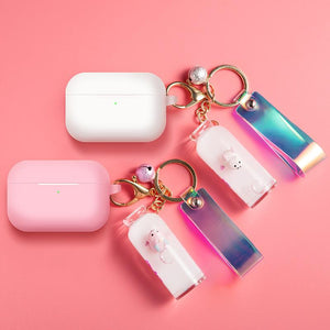 Bottle Keychain Pig Silicone Protective Case For Apple Airpods Pro - Casememe.com