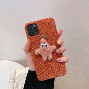 Fabric Patrick Star Shockproof Protective Designer iPhone Case For iPhone SE 11 Pro Max X XS Max XR 7 8 Plus - Casememe.com