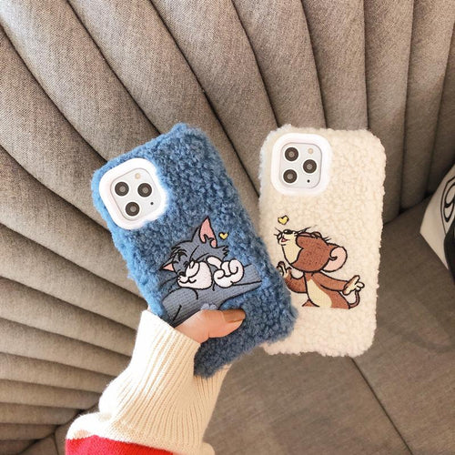 Tom And Jerry Style Furry Shockproof Protective Designer iPhone Case For iPhone 11 Pro Max X XS Max XR 7 8 Plus - Casememe.com