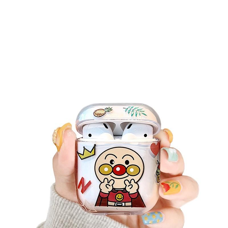 Anpanman Style Clear Hard Protective Case For Apple Airpods 1 & 2 - Casememe.com