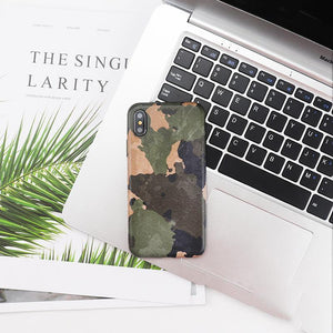 Camouflage Matte Minimalism Silicone Shockproof Protective Designer iPhone Case For iPhone 12 SE 11 Pro Max X XS Max XR 7 8 Plus - Casememe.com