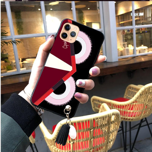 Fendi Monster Style Matte Shockproof Protective Designer iPhone Case For iPhone SE 11 Pro Max X XS Max XR 7 8 Plus - Casememe.com