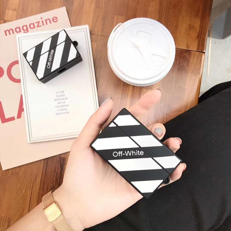OFF White Style Box Silicone Protective Case For Apple Airpods Pro - Casememe.com
