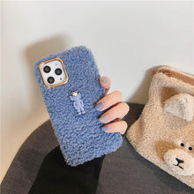 Load image into Gallery viewer, KAWS Style Cute Toy Furry Shockproof Protective Designer iPhone Case For iPhone 11 Pro Max X XS Max XR 7 8 Plus - Casememe.com