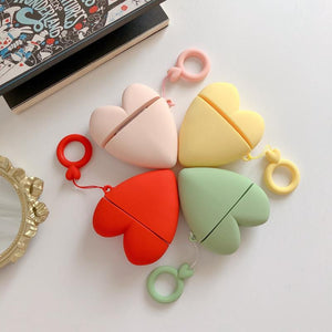 Minimalism Heart Shaped Soft Silicone Protective Case For Apple Airpods 1 & 2 - Casememe.com