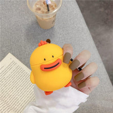 Load image into Gallery viewer, Cute Duck Silicone Protective Case For Apple Airpods 1 & 2 - Casememe.com