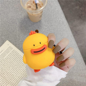 Cute Duck Silicone Protective Case For Apple Airpods 1 & 2 - Casememe.com