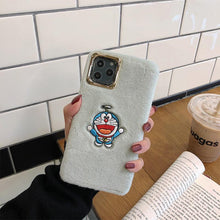 Load image into Gallery viewer, Doraemon Style Furry Shockproof Protective Designer iPhone Case For iPhone SE 11 Pro Max X XS Max XR 7 8 Plus - Casememe.com
