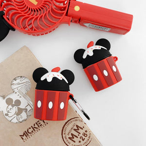 Minnie Mouse Style Ice Cream Silicone Protective Case For Apple Airpods 1 & 2 - Casememe.com