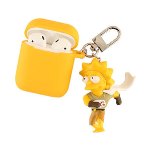 Simpsons Homer Marge Silicone Protective Shockproof Case For Apple Airpods 1 & 2 - Casememe.com