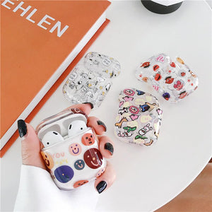 Smile Snoopy Simpsons Clear Hard Protective Shockproof Case For Apple Airpods 1 & 2 - Casememe.com