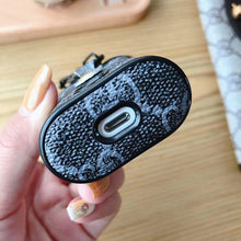 Load image into Gallery viewer, GC Style Bee Snake Leather Box Designer Protective Shockproof Case For Apple Airpods 1 & 2 - Casememe.com