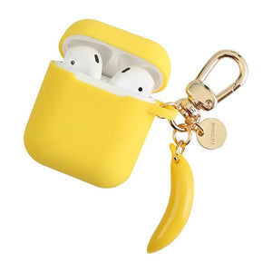 Banana Yellow Trendy Silicone Protective Shockproof Case For Apple Airpods 1 & 2 - Casememe.com