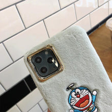 Load image into Gallery viewer, Doraemon Style Furry Shockproof Protective Designer iPhone Case For iPhone 11 Pro Max X XS Max XR 7 8 Plus - Casememe.com