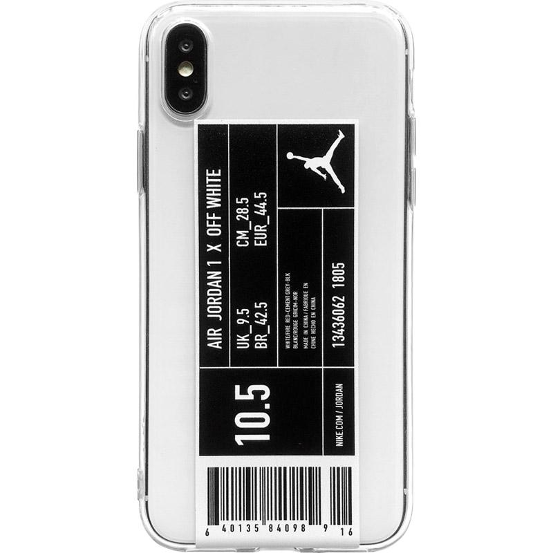 Air Jordan Style Clear Silicone Shockproof Protective Designer iPhone Case For iPhone SE 11 Pro Max X XS Max XR 7 8 Plus - Casememe.com