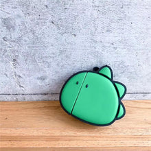 Load image into Gallery viewer, Green Dinosaur Cute Silicone Protective Shockproof Case For Apple Airpods 1 & 2 - Casememe.com