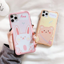 Load image into Gallery viewer, Line Friends Style Bumper Frame Shockproof Protective Designer iPhone Case For iPhone 11 Pro Max X XS Max XR 7 8 Plus - Casememe.com