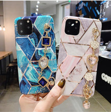 Load image into Gallery viewer, Luxury Jewel Geometric Silicone Designer iPhone Case For iPhone SE 11 Pro Max X XS XS Max XR 7 8 Plus - Casememe.com
