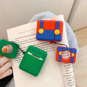 Mario Style Pants Silicone Designer Protective Shockproof Case For Apple Airpods 1 & 2 - Casememe.com