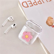 Load image into Gallery viewer, Cute Flower Floral Hard Clear Protective Shockproof Case For Apple Airpods 1 & 2 - Casememe.com